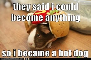 became a hot dog